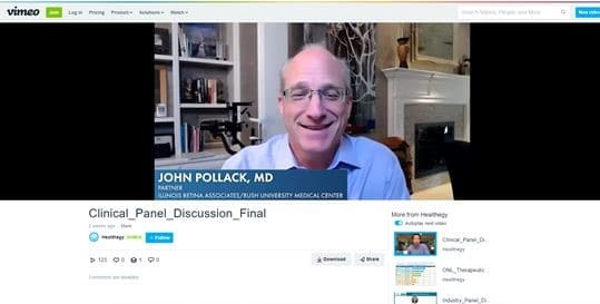 John S. Pollack, MD moderating OIS clinical panel discussion