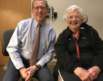 Sister Jean Schmidt with Dr. MacCumber